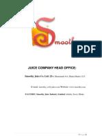 Marketing Plan of Juice Company