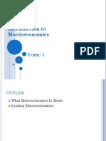 Topic 1 - Intro to Macroeconomics
