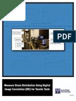 Measure Strain Distribution Using Digital Image Correlation (DIC) for Tensile Tests