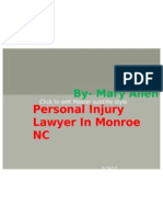 Personal Injury Lawyer in Monroe NC