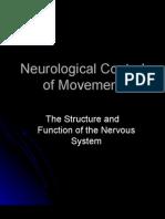 Neurological Control of Movement