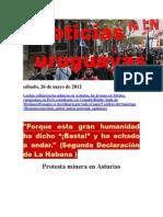 Noticias Uruguayas sábado 26 de mayo del 2012