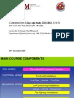 84102199 Construction Measurement III Week 3 Precast Pre Stressed Concrete