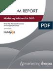 OPEN SR 13 Marketing Wisdom for 2012
