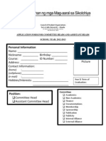 Execomm Application Form