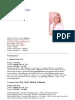 CV in Engleza