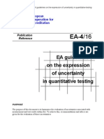 EA 4 16 EA Guidelines on the Expression of Uncertainty in Quantitative Testing