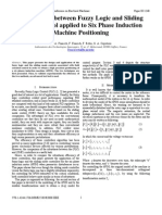 Comparison Between Fuzzy Logic and Sliding Mode Control Applied to Six Phase Induction Machine Positioning