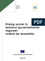 Dialog Social in Sectorul Guvernamental