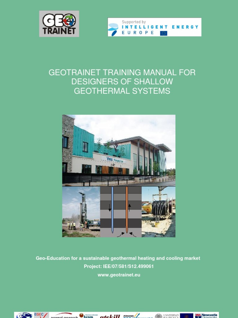 Geotrainet Manual for Designers on Shallow Geothemal | Thermal Conduction | Heat  Pump