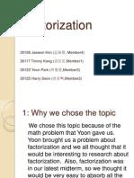 Factorization (3-Asia)