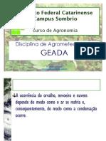 Agrometeorologia geada