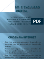 INCLUSÃO  e EXCLUSÃO DIGITAL