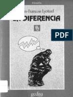 La Diferencia - Jean-Francois Lyotard
