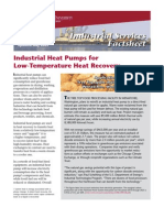 Industrial Heat Pumps for Low Temperature Heat Recovery-WSU