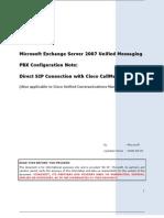 Cisco-CCM 5.1-Direct SIP Connection