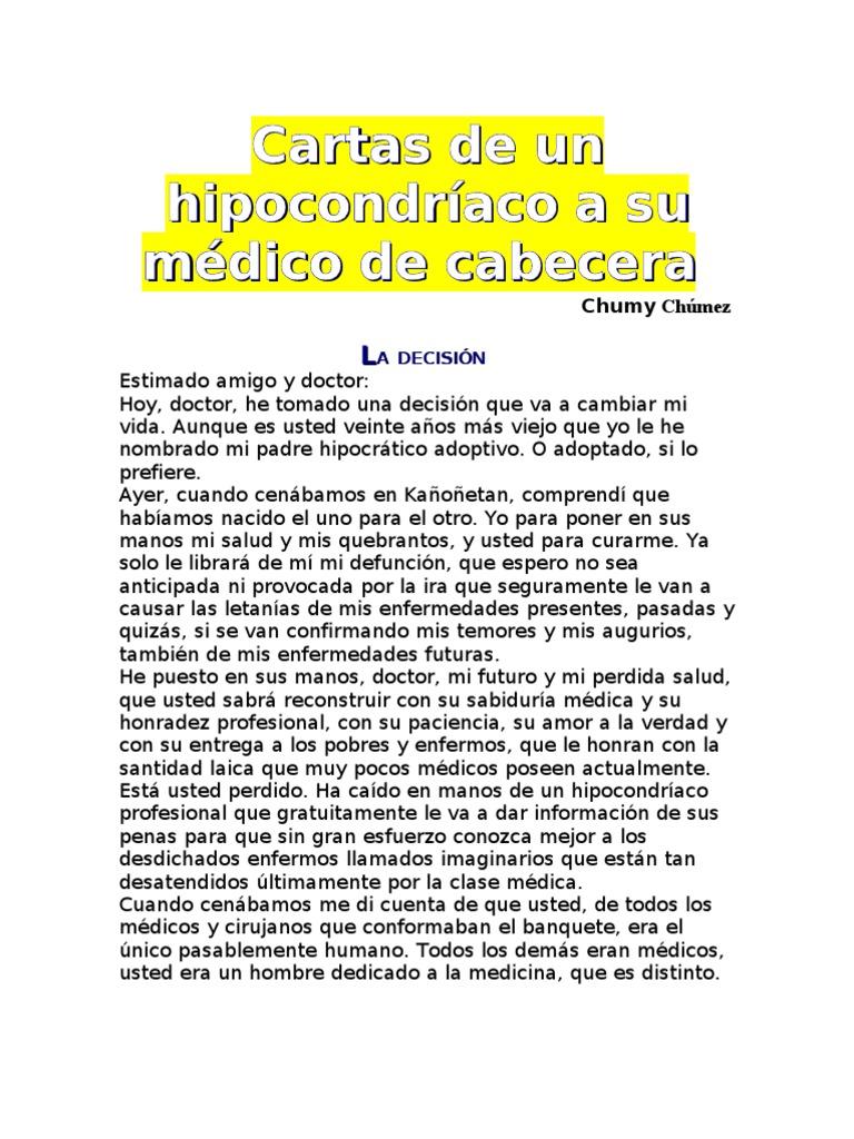 Cartas de un hipocondríaco a su médico de cabecer1