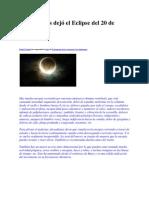 ॐ Qué nos dejó el Eclipse del 20 de Mayo