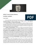 HTML5 - C.Mortillaro