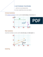Cartesian Coordinates to Polar Coordinates Conversion