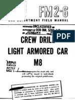 FM 26 1943 Manual Crew Drill Light Armored Car M8