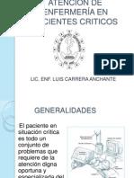 ATENCION DE ENFERMERÍA EN PACIENTES CRITICOS