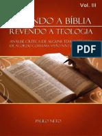 Relendo a Bíblia, revendo a teologia - vol. III