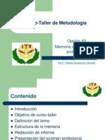 Curso-Taller de Metodología presentación