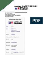 Maruti Suzuki Pvt.ltd.