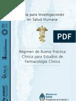 Buensa Practicas Para Estudios en Farmacologia Clinica