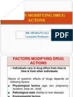 02. Factors Modifying Drug Actions