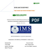 RELIGARE Securities Ltd-Vivek Singh project