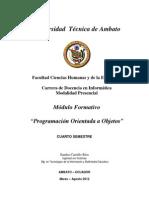 Modulo de Programacion Orientada a Objetos Cuarto Marzo-Agosto2012