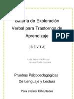Batería de Exploración verbal para trastornos de aprendizaje