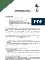 Controlul Statistic Al Proceselor Si Produselor