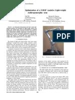 Robot Mass Optimization