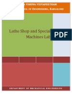 Lathe Shop Lab Manual