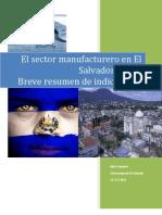 Sector Manufacturero Salvador 2009