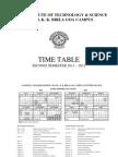TIMETABLE Second Semester 2011-12 (4 Jan 12)