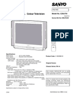 5020647 Sanyo Service Manual TV C29LF34 Chassis FA1A