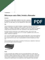 Diferenças entre Hub, Switch e Roteador
