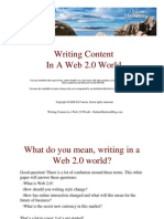 Writing in a Web 20 World