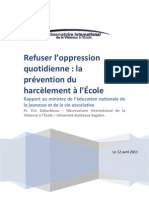 Refuser l Oppression Quotidienne La Prevention Du Harcelement Al Ecole 174645