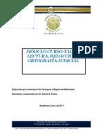 Modulo Taller de Lectura, Redaccion y Ortografia Judicial