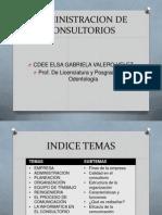 Actividades para administración de consultorios
