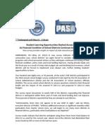 PASA/PASBO Report