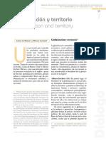 Globalización y Teritorio Carlos de Mattos y Alfonso Iracheta