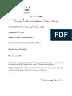 MBA Macro 2012 Individual Assignment