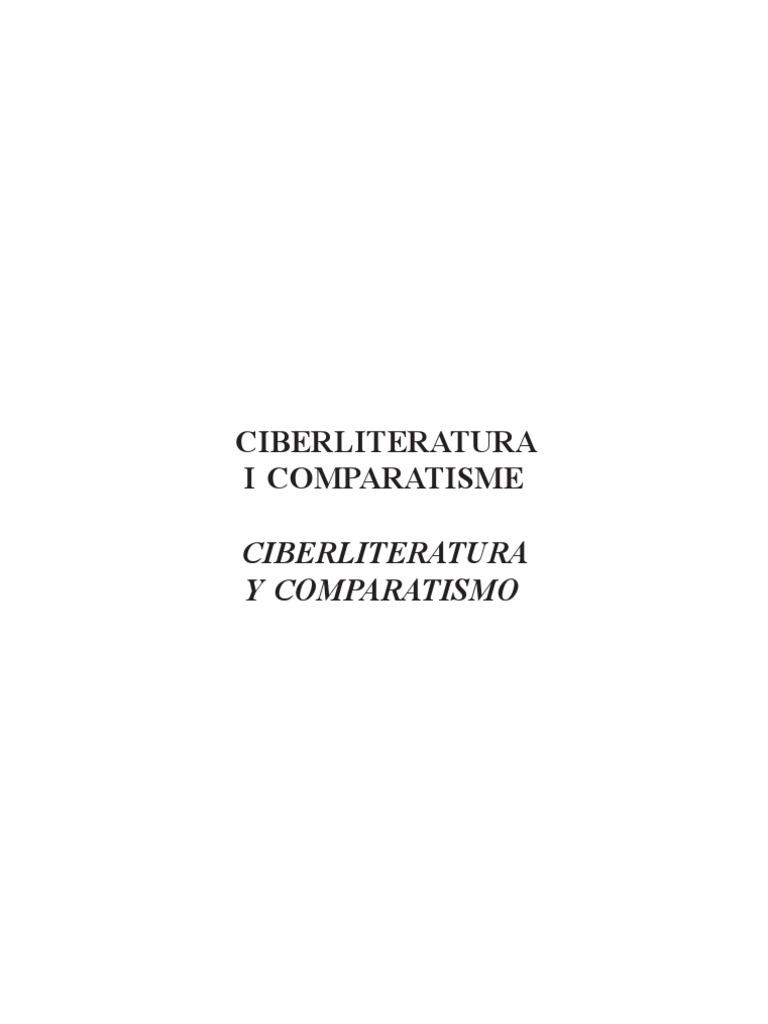 brand new 151d6 a93b0 Ciberliteratura i comparatisme
