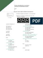 ejercicos en atmega 164p uso de interrupciones y teclado matricial